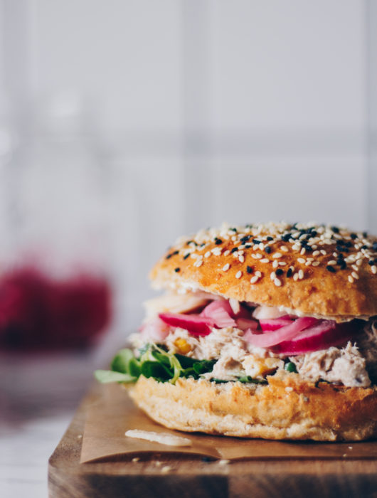 burger med tunsalat
