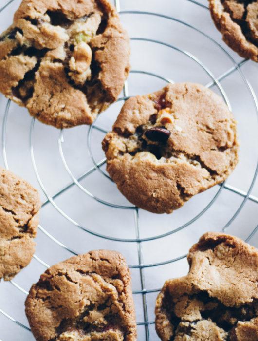 Opskrift på cookies med M&M