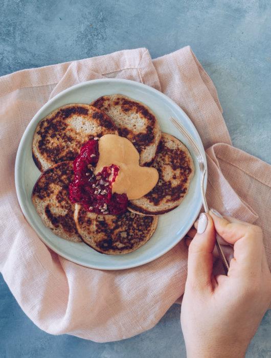 sunde bananpandekager uden mel og sukker