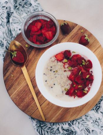 karamelliserede jordbær