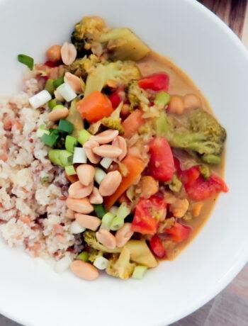vegansk panang curry